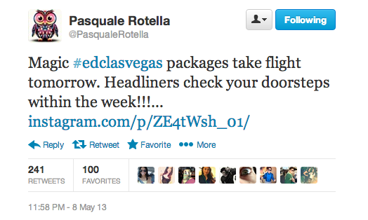 Pasquale Rotella Announcing EDC Las Vegas Packages Shipping