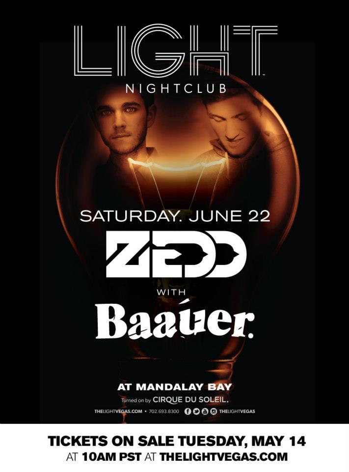 Zedd Baauer Light Nightclub Las Vegas June 22 2013