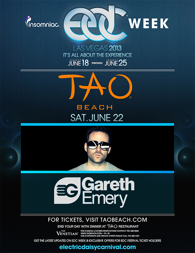 Gareth Emery Tao Beach June 22