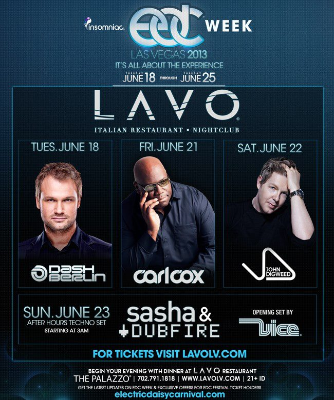 Lavo Nightclub EDC Week 2013
