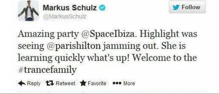 Markus Schulz Welcomes Paris Hilton