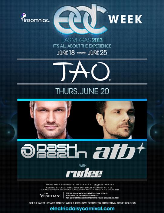 Dash Berlin and ATB at Tao Nightclub