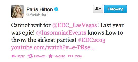 Paris Hilton EDC 2013