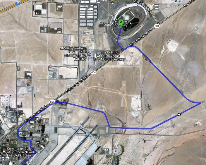 EDC 2013 Shuttle Route through Air Force Base