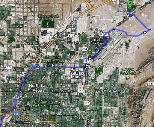 EDC 2013 Shuttle Bus Route