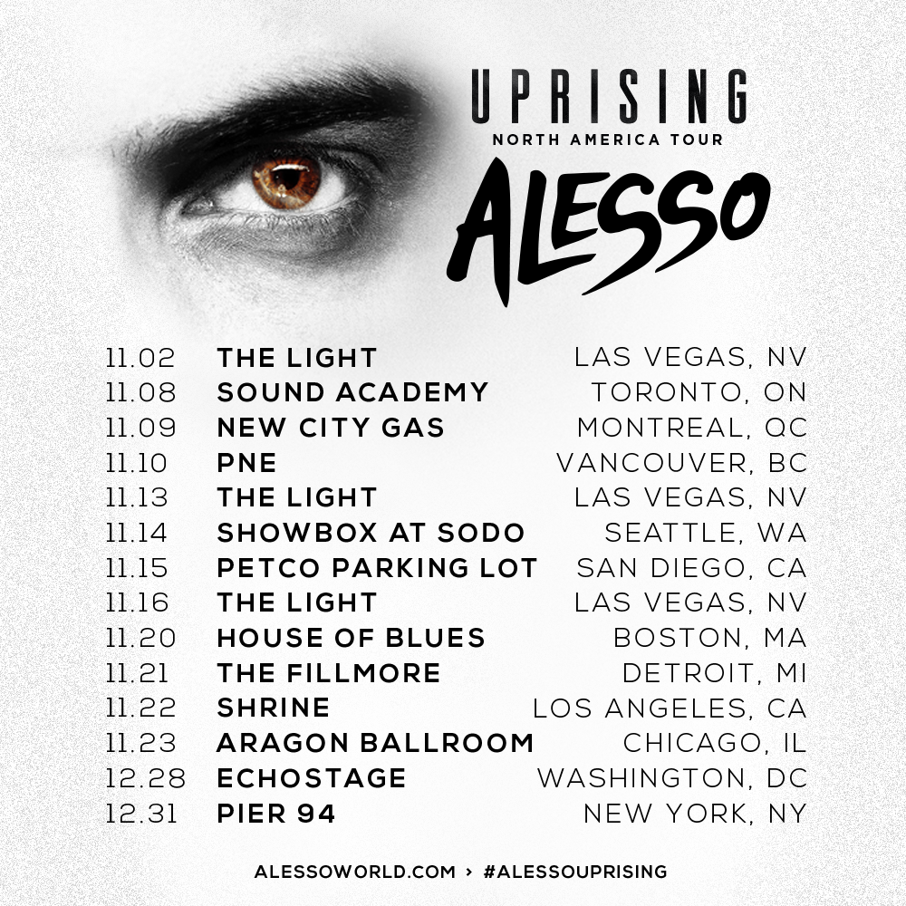 Alesso Uprising North American Tour