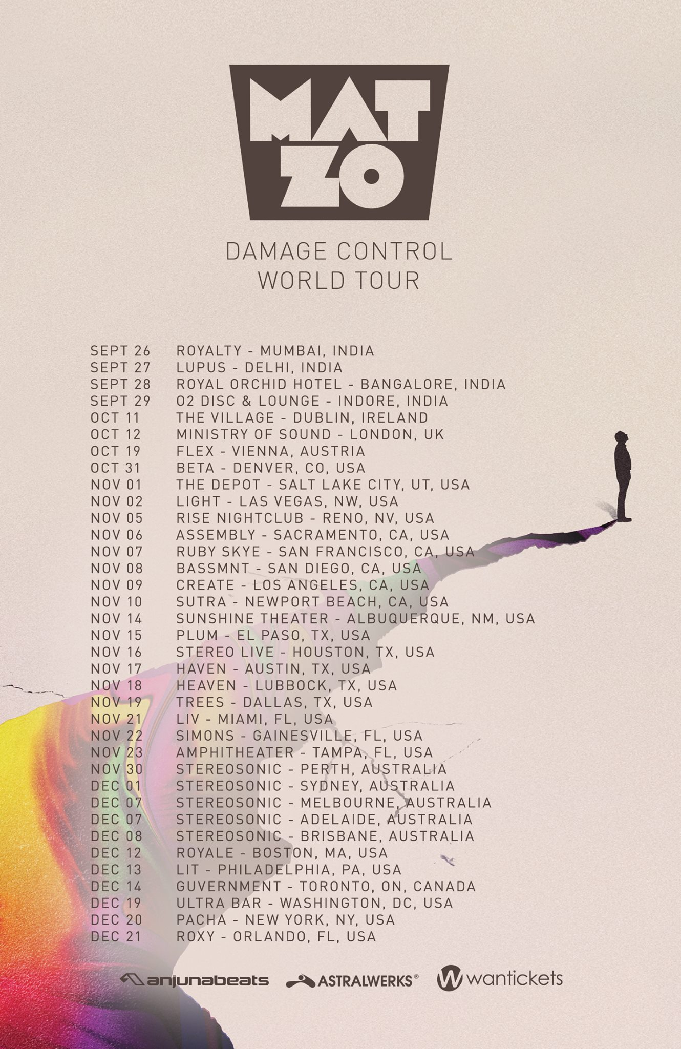 Mat Zo Damage Control World Tour 2013