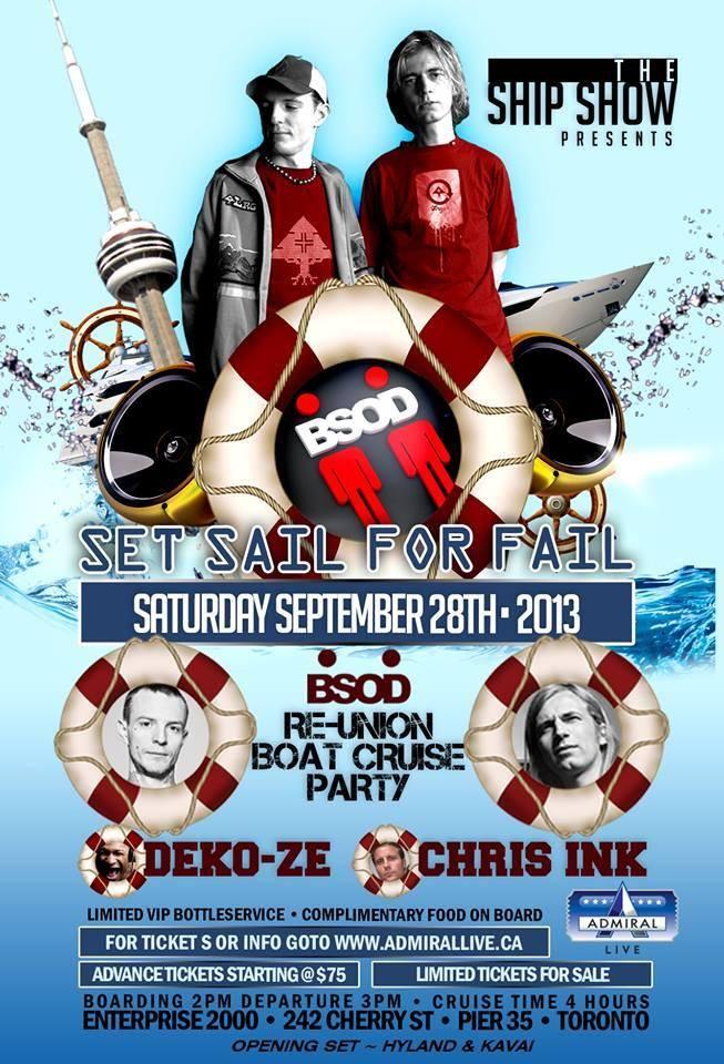 Set Sail for Fail Sept 28 2013 Toronto Joel Zimmerman