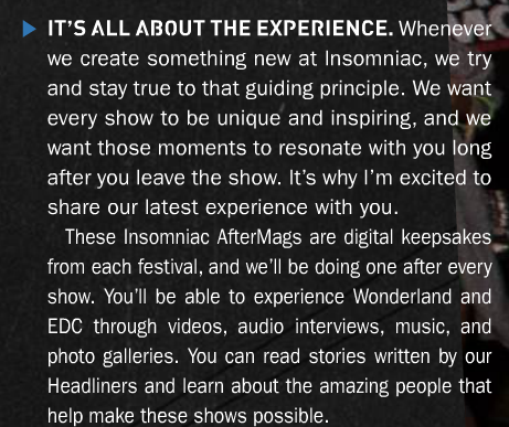 Pasquale Rotella quote Escape from Wonderland 2013 AfterMag