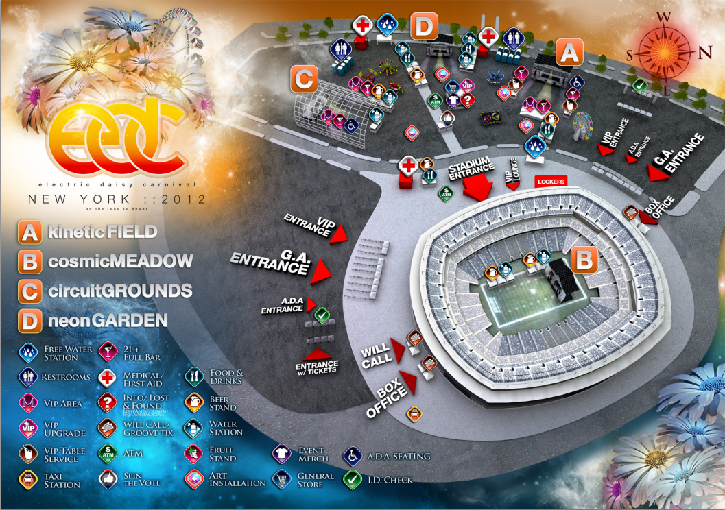 EDC NYC 2012 Venue Map