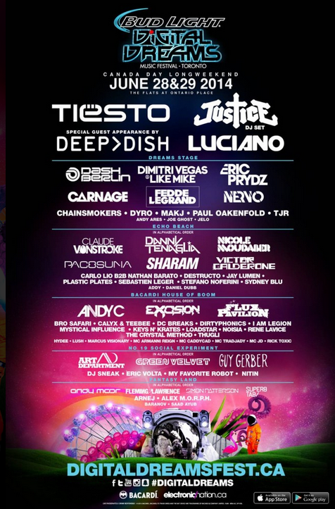 Digital Dreams Festival Toronto 2014 Lineup