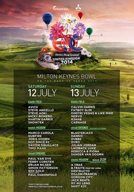 EDC UK 2014 Lineup