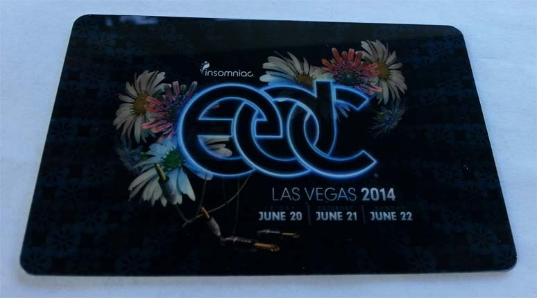 EDCLV 2014 Box Ticket Card