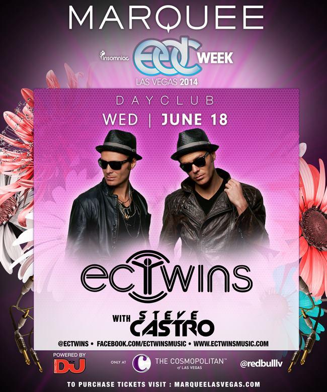 EC Twins Marquee Dayclub EDC Week June 18 2014