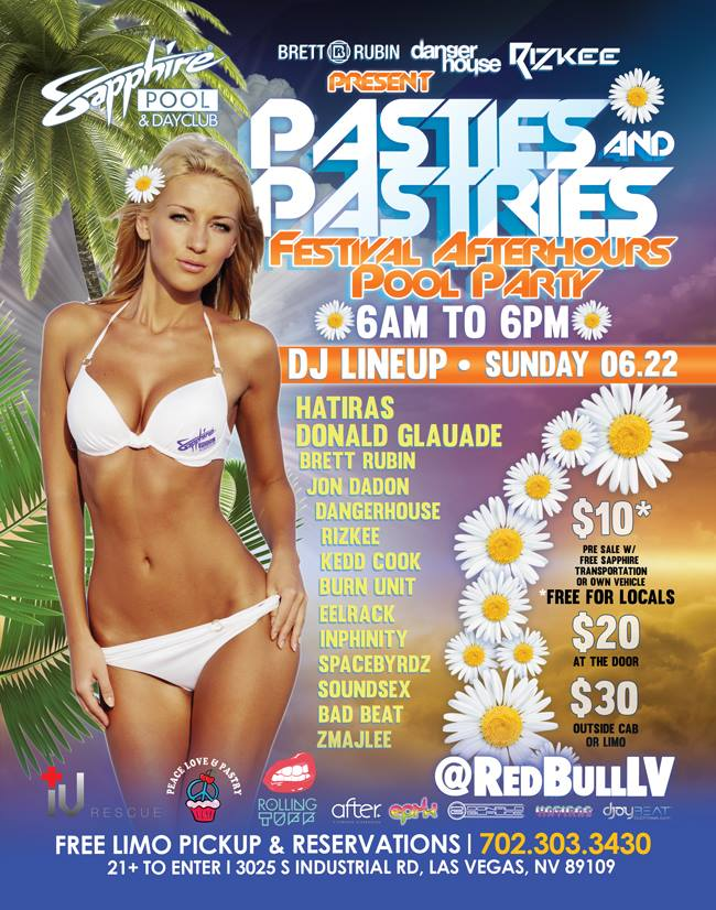 June 22 2014 Pasties and Pastries Sunrise Pool Party