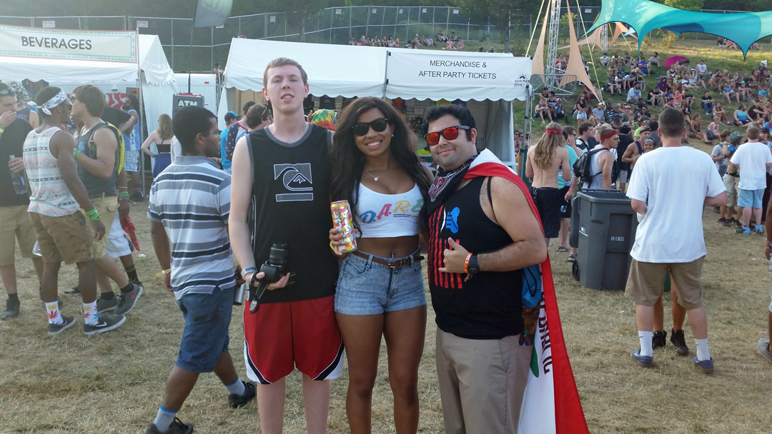 Kevin, Maggie and Grant at Summer Set Music Festival