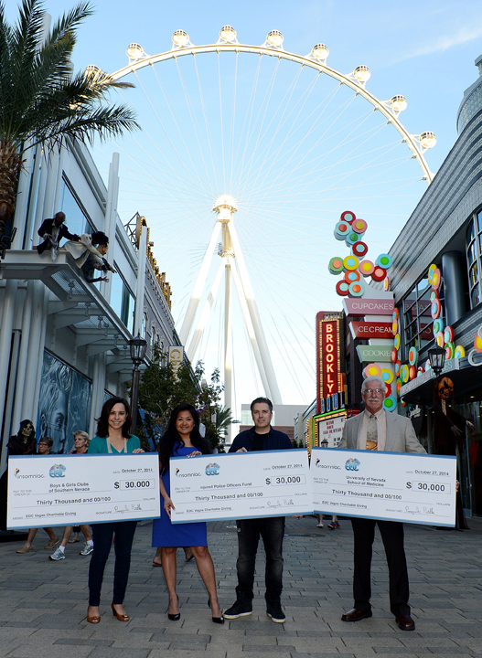 Insomniac Presents $90,000 Charitable Donation From 18th Annual Electric Daisy Carnival, Las Vegas To Three Local Charities