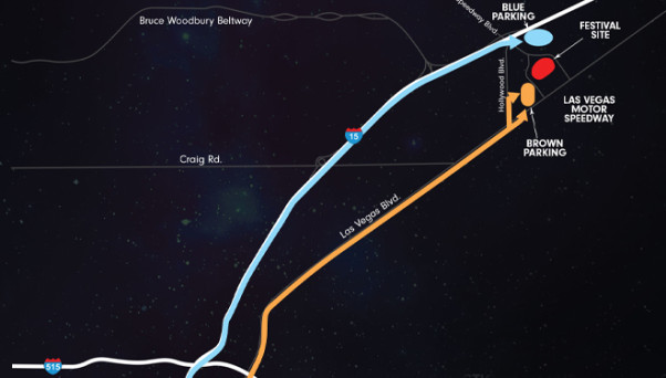 Edc protip shuttles and others ways to get to the las for Las vegas motor speedway transportation