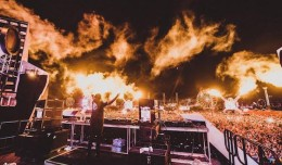 Ookay performed on the bassPOD stage in front of a packed audience at EDC Las Vegas 2015.