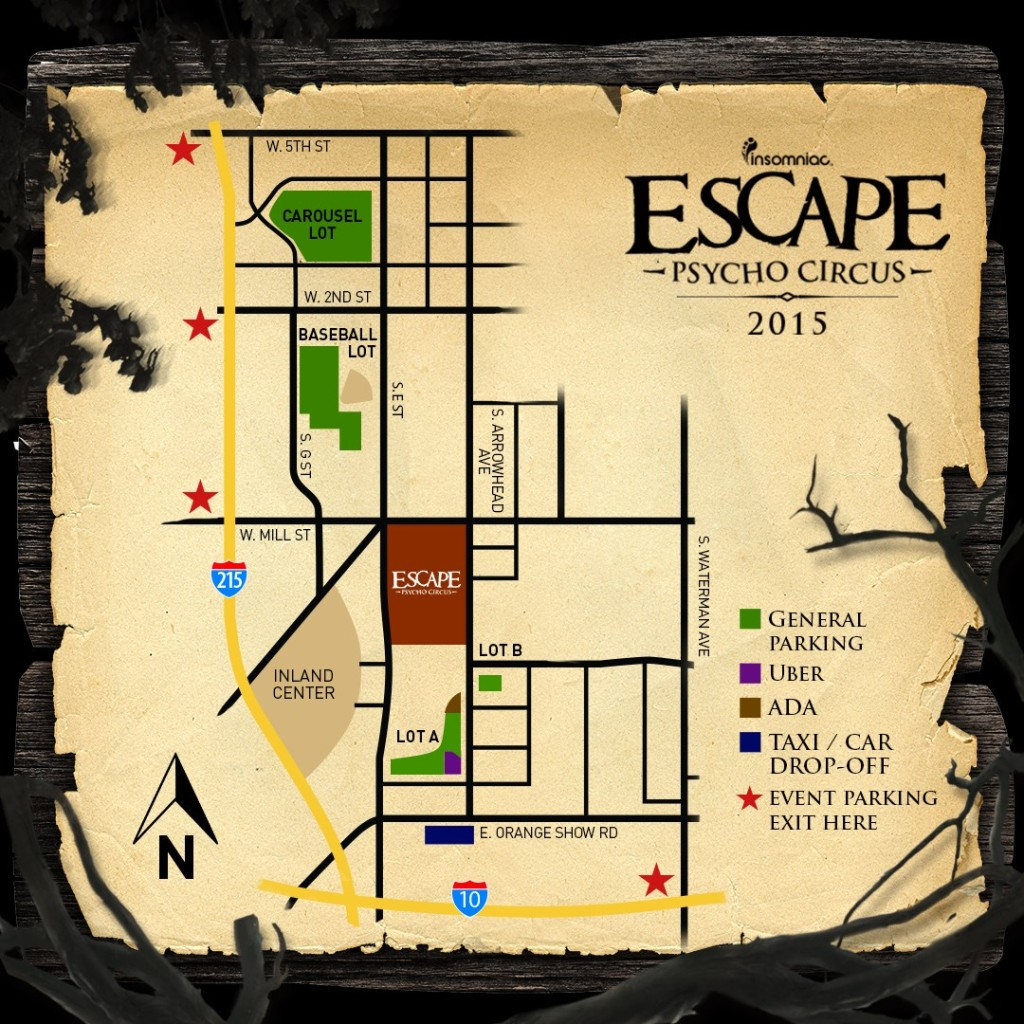 Escape 2015 Map