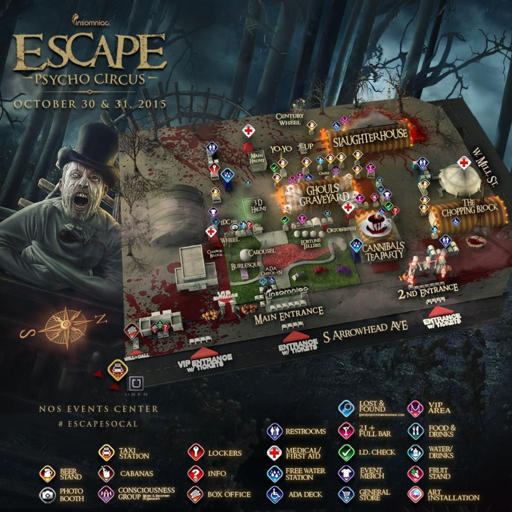 Escape 2015 Festival Map